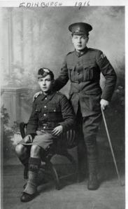 Lance-corporal James Ryan (standing) in Edinburgh, 1916